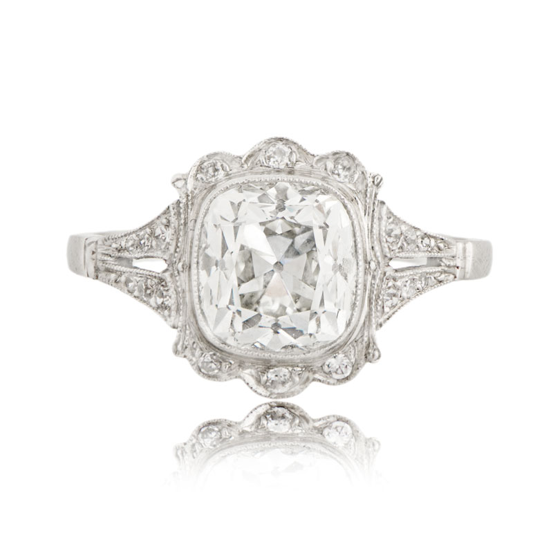 Cushion Cut Diamond Used Cushion Cut Diamond Rings