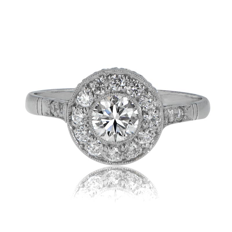 Home engagement rings vintage style diamond engagement ring