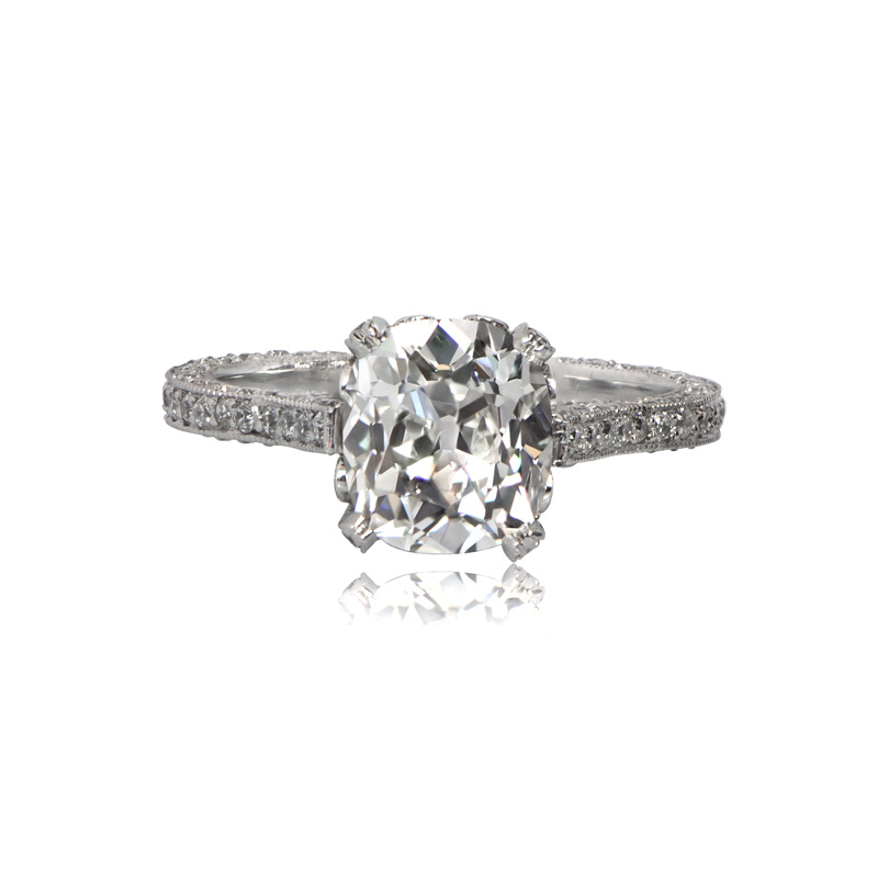 Home engagement rings 2 25ct vintage style diamond engagement ring