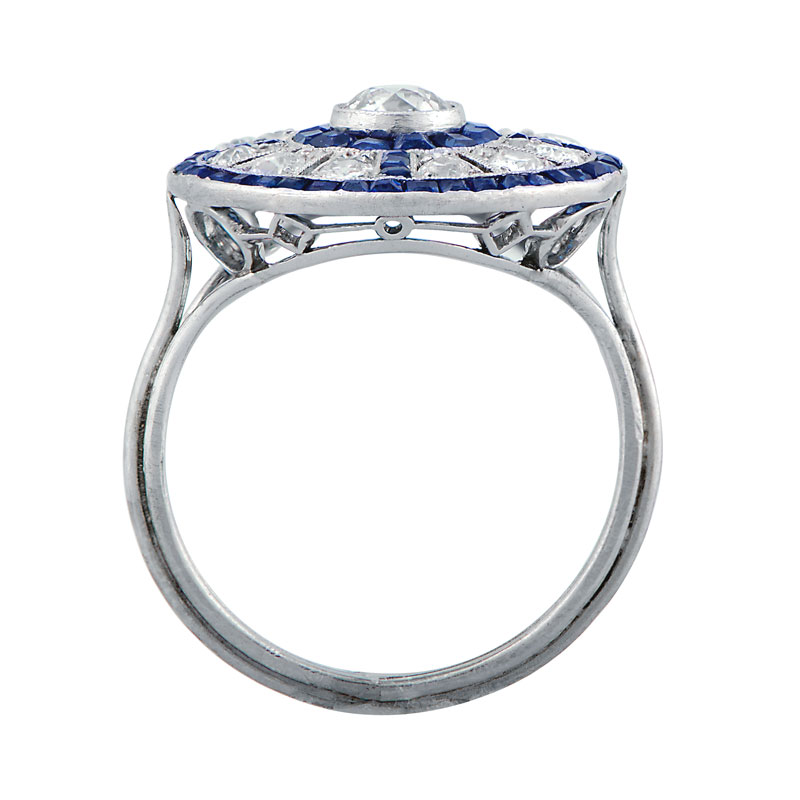 antique diamond and sapphire engagement ring estate