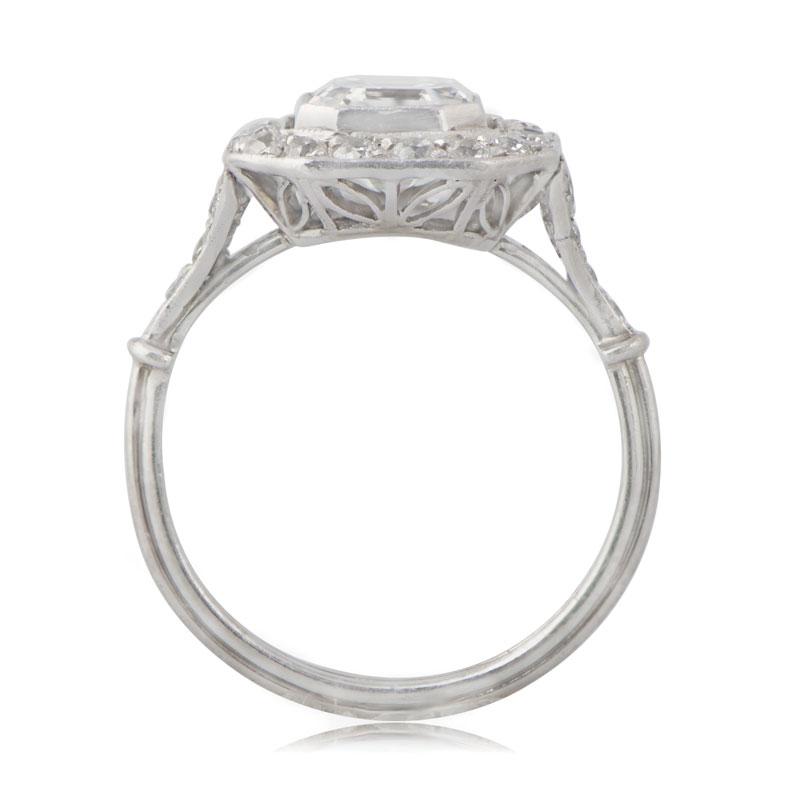 Vintage Asscher Cut Diamond Engagement Ring Estate Diamond Jewelry