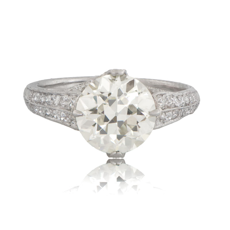vintage platinum engagement ring estate jewelry