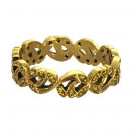Yellow Diamonds Gold Band