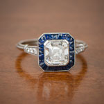 Antique Asscher Cut Engagement Rings Link