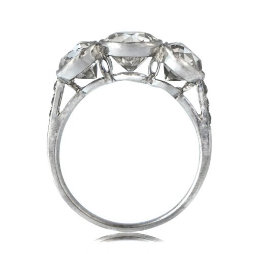 Three Stone Bezel Diamond Ring Estate Diamond Jewelry