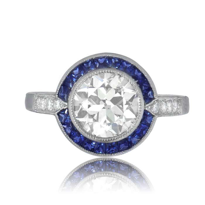 Diamond And Sapphire Engagement Ring Estate Diamond Jewelry