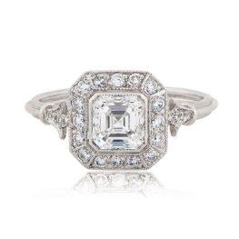 Vintage Asscher Cut Engagement Ring