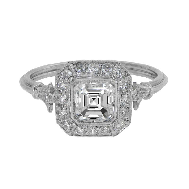 Draganas exquisite 2ct asscher cut platinum engagement