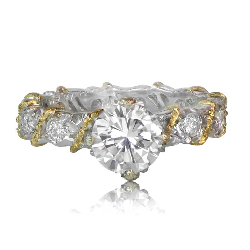 buccellati diamond engagement ring With buccellati wedding rings