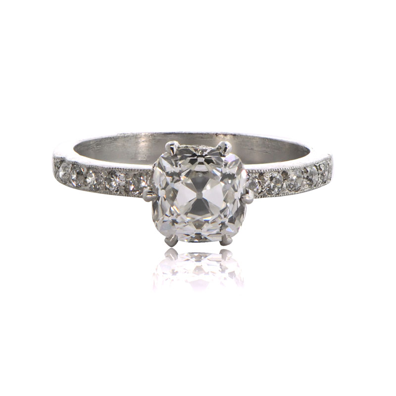 Cushion Cut Engagement Ring Estate Diamond Jewelry