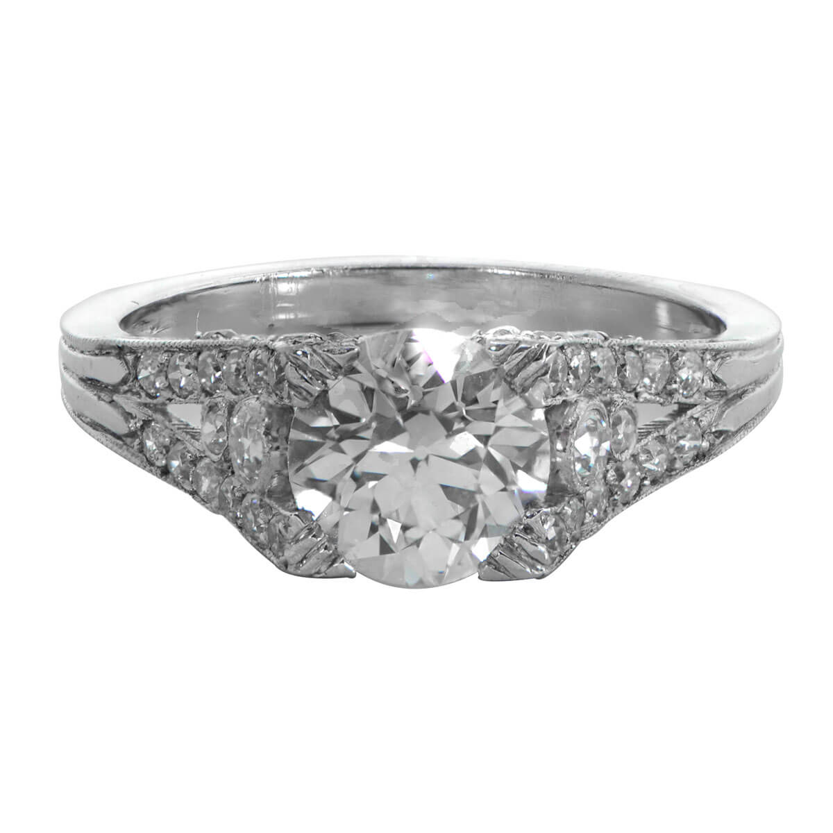 1 30ct engagement ring estate jewelry