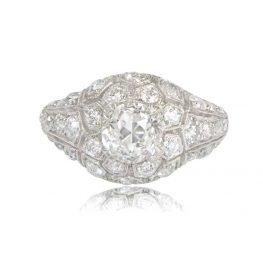 Diamond and Platinum Engagement Ring
