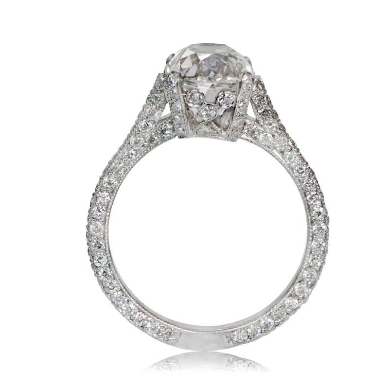 2 25ct Vintage Style Diamond Engagement Ring