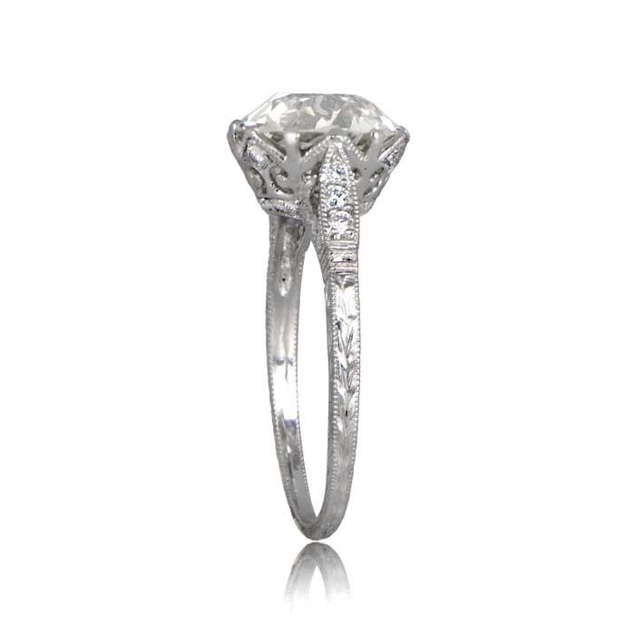 Enement Ring Vintage | Crown Setting Engagement Ring Vintage Diamond Ring