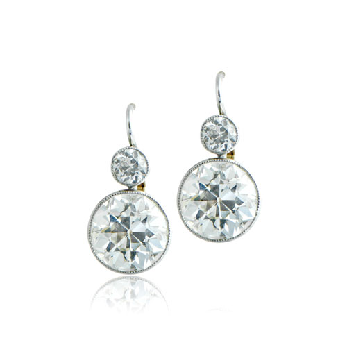 si over rub earrings stud h platinum diamond cfm
