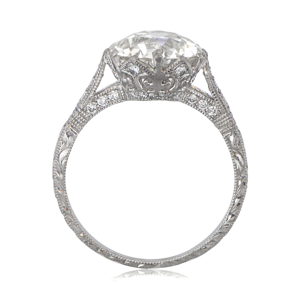 Crown Setting Engagement Ring Vintage Diamond