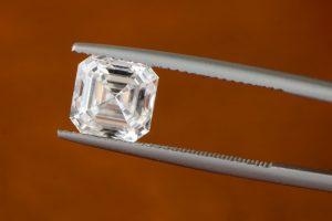 Asscher Cut Diamond on Prongs