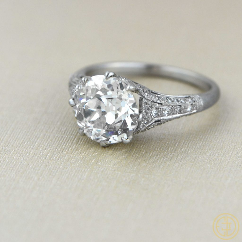 cushion cut diamond rings more vintage treasures