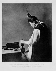 Joseph Asscher Cutting the Cullinan Diamond