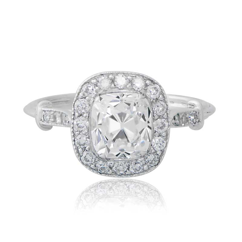 Cushion cut diamond engagement ring Estate Diamond Jewelry