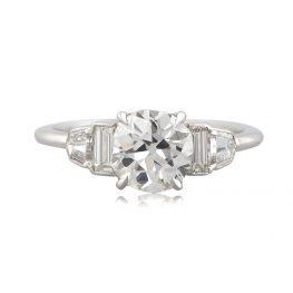Old Mine Engagement Ring - Estate Diamond Jewelry