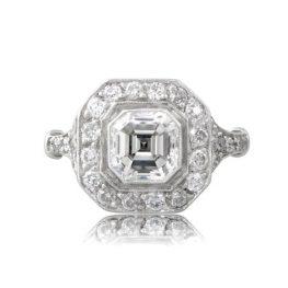 AA Vintage-Asscher-Cut-Diamond-Engagement-Ring-10793-T-View