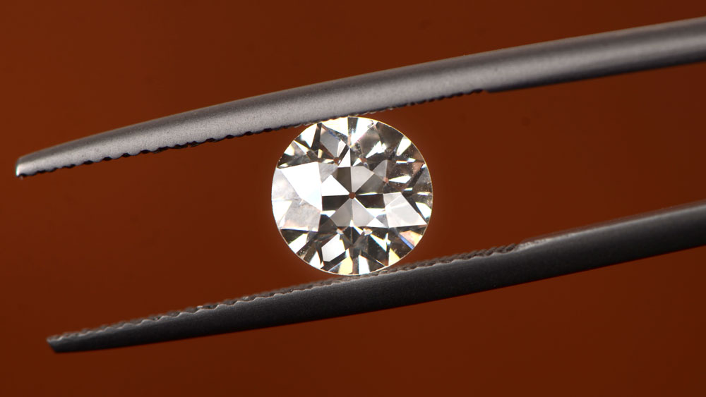 Close up of Old European cut diamond