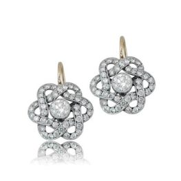 Platinum Infinity Diamond Earrings 2