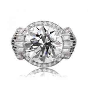 Art Deco vintage engagement rings