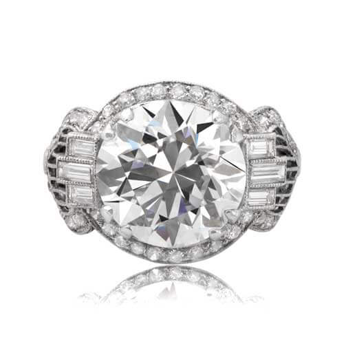 Antique diamond ring front view