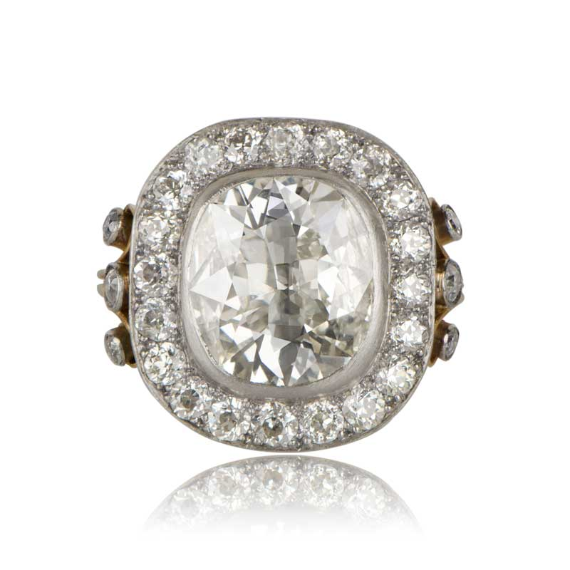 4 04ct Cushion Cut Engagement Ring Estate Diamond Jewelry