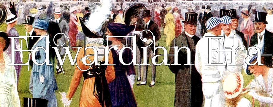 Edwardian Era Party with Women Wearing Jewelry