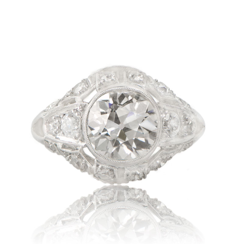 rare collection of Antique and Vintage Engagement Rings