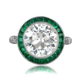 Emerald Halo Diamond Ring 11412