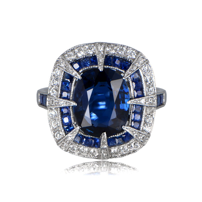 Front View of 11880 Sapphire Ring