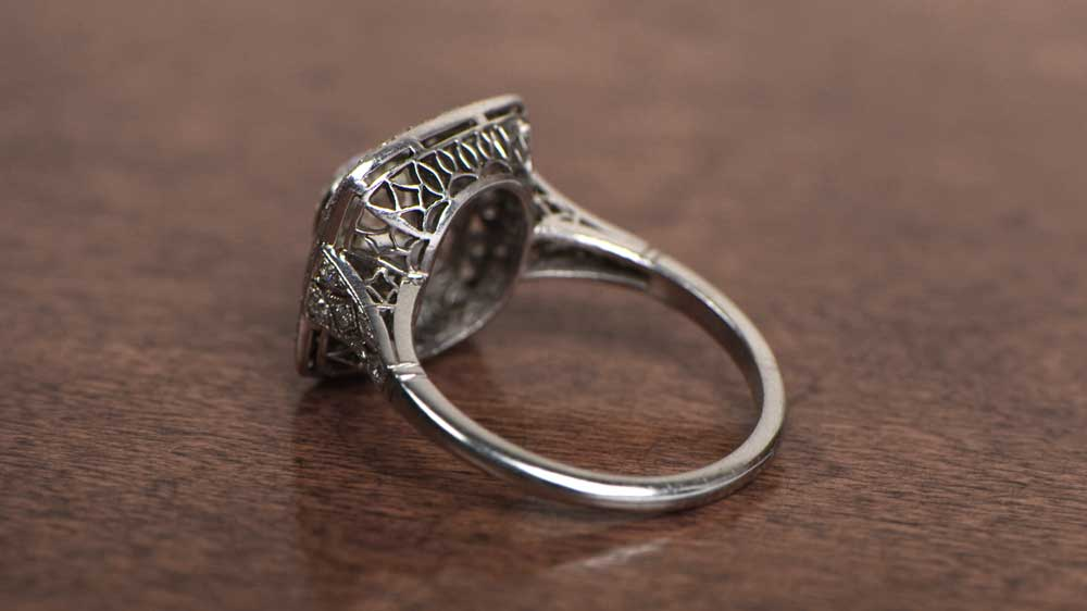 Engagement Ring with Detailed Filigree