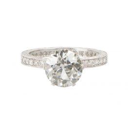 Old European Diamond Engagement Ring - Estate Diamond Jewelry