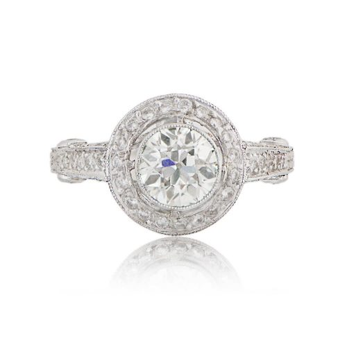 11022-Old-Euro-Diamond-with-Halo-Engagement-Ring-T-View-2