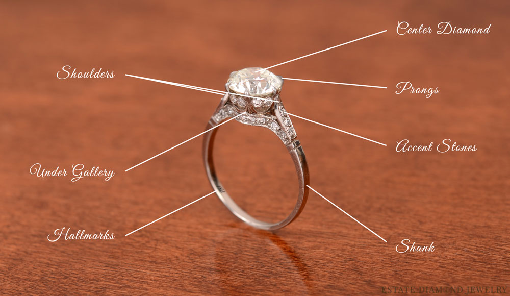 Anatomy Of A Vintage Engagement Ring Estate Jewelry