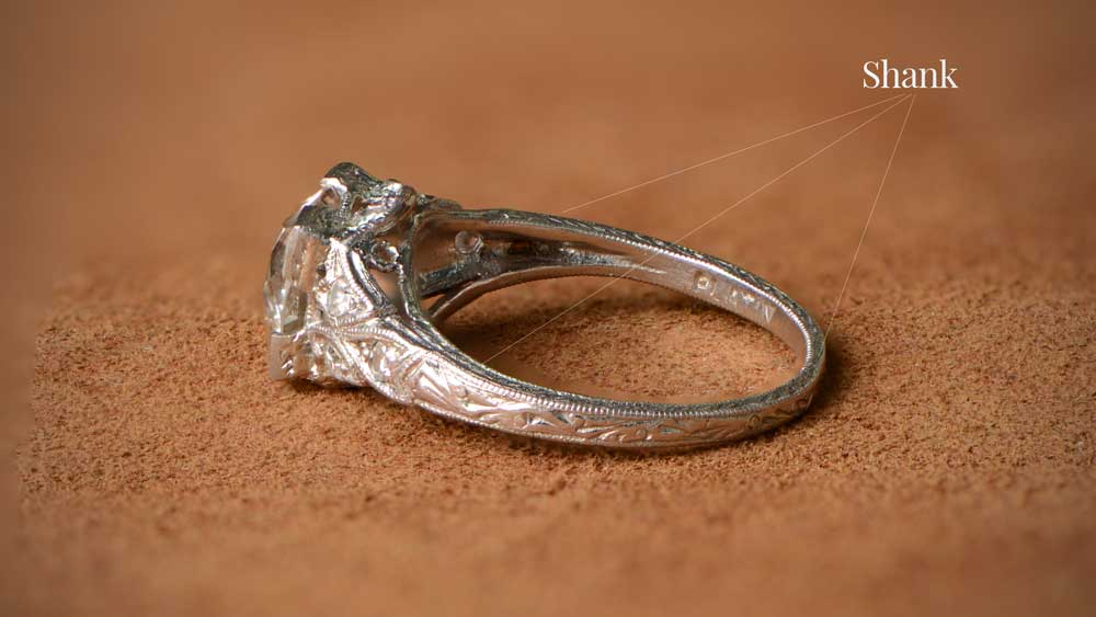 Shank of Engagement Ring