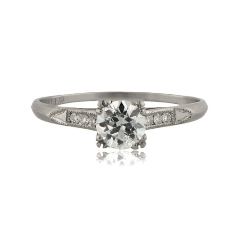 Art-Deco-Solitaire-Engagement-Ring-RMS822-T-View-2