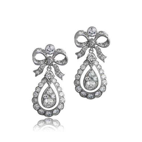 Edwardian Style Old Mine Earrings