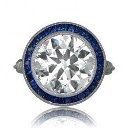 Large Sapphire Halo ring