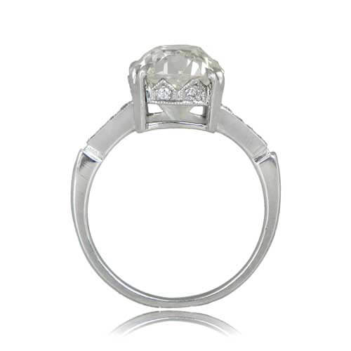 Cushion Cut Engagement Ring Side View