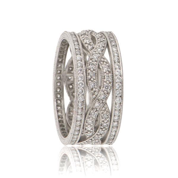 Infinity Twist Estate Wedding Band Estate Diamond Jewelry