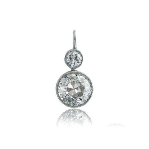 Old Mine Diamond Bezel Earrings