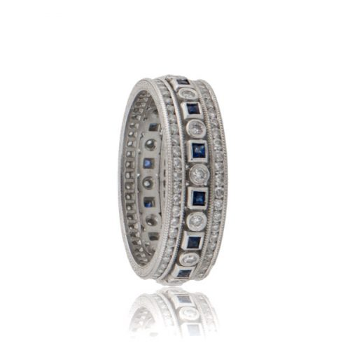 Dia Sapp Platinum Wedding Band