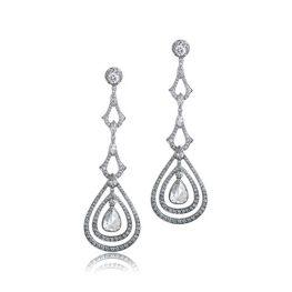 Diamond Rose Cut Drop Earring