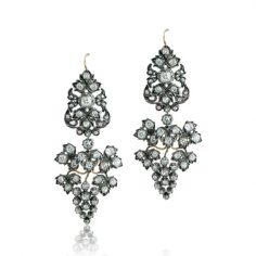 Antique Victorian Silver Earrings