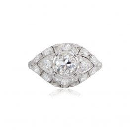Ring Engagement Platinum Old Mine